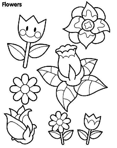 color these playful spring flowers with your elementary students free printable coloring pages - Coloring Pages Toddlers
