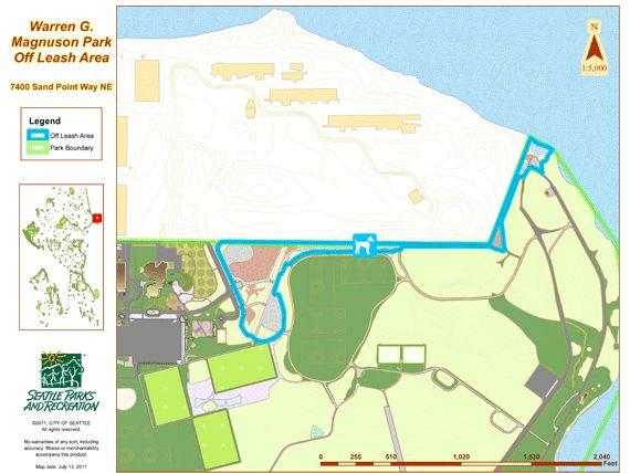 Magnuson Dog Park Map