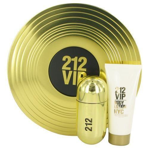 212 Vip by Carolina Herrera Gift Set -- 1.7 oz Eau De Parfum Spray + 3.4 oz Body Lotion (Women)