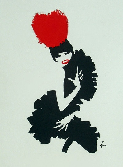 noonesnemesis:  Moulin Rouge Rene Gruau 1955
