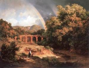 Italian Landscape with Viaduct and Rainbow 1838  Károly, the Elder Markó