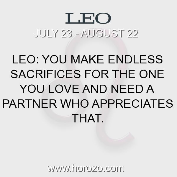 Fact about Leo: Leo: You make endless sacrifices for the one you love... #leo, #leofact, #zodiac. More info here: https://www.horozo.com/blog/leo-you-make-endless-sacrifices-for-the-one-you-love/ Astrology dating site: https://www.horozo.com #horoscopelove #horoscopesdates