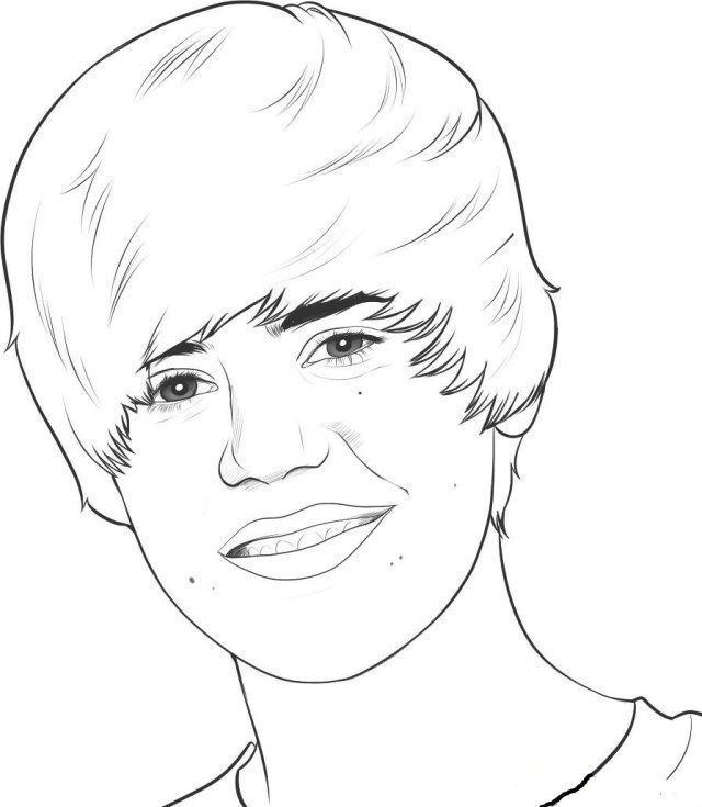 Marvelous Photo Of Justin Bieber Coloring Pages Albanysinsanity Com Pictures To Draw Drawing People Funny Drawings