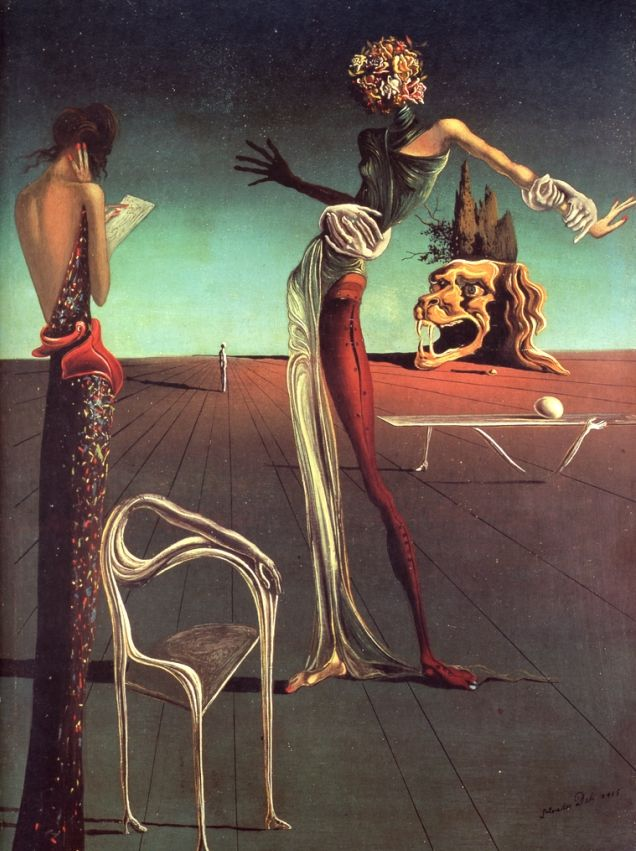 ©Salvador Dali.Woman with a Head of Roses (1935 ...
