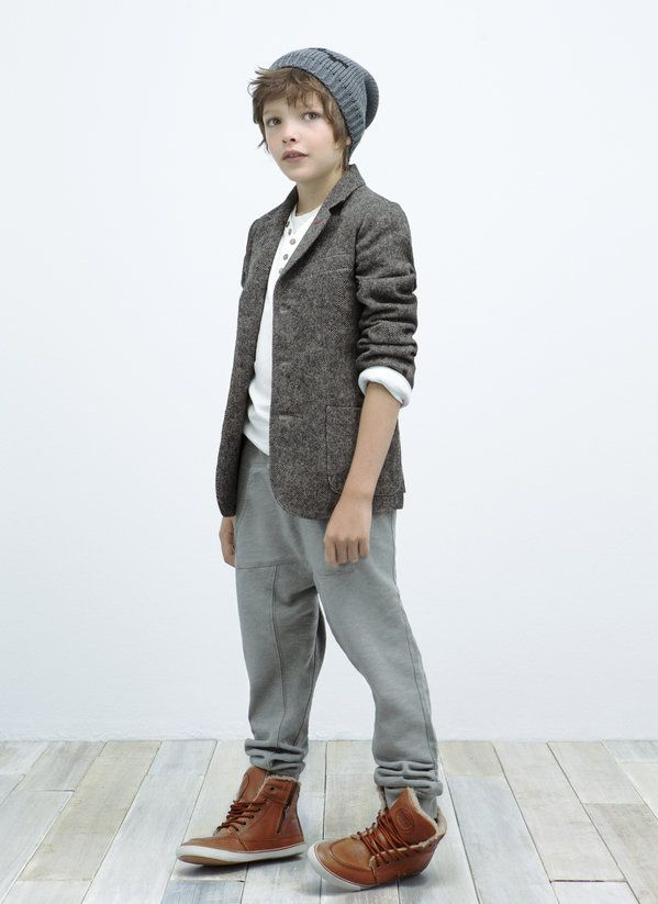 Tweedy coat  Augustus - Kids - Lookbook - ZARA Nederland