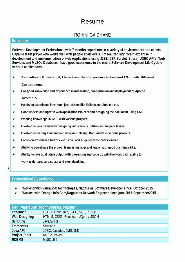 Dot Net Resume 7 Years Experience Inspirational Rohini Corporate Resume7pdf Resume Years Experience Resume Examples