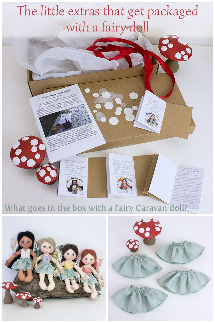 Today I would like to give you a glimpse at what you will receive when you order a fairy doll from our whimsical little shop! We have really given the packaging of our dolls a lot of thought. The experience of opening a Fairy Caravan parcel should be truly magical!