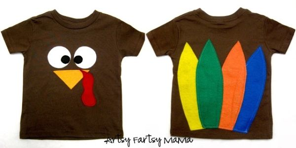 Cutest Turkey SHirts EVER with Artsy Fartsy Mama!  So cute I can't wait to make them for next year! by harriett