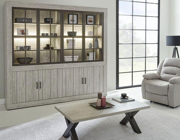 Bibliothèque contemporaine couleur bois clair FERGUS