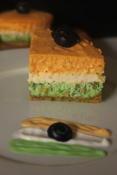 Indian Tricolor cheesecake flavoured with spices reminiscent of India…a creamy cheesecake representing the colours of the Indian flag