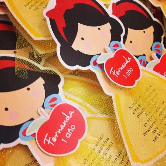 20 Snow White Birthday Party Invitations by BirthdayPartyBox
