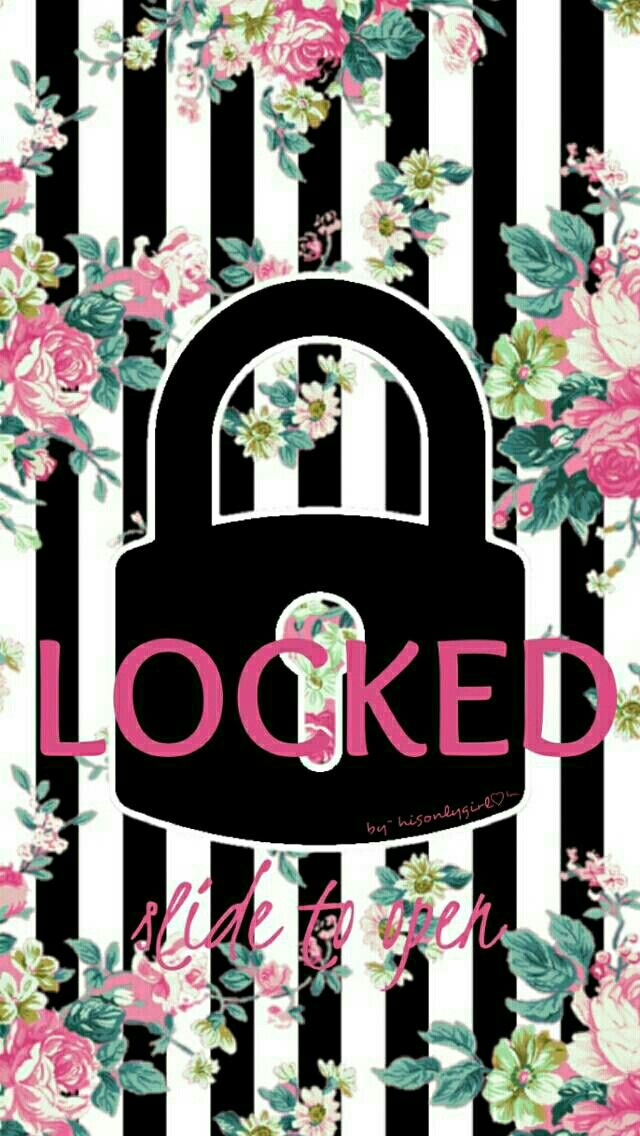 LOCKED floral striped wallpaper I created for the app CocoPPa.