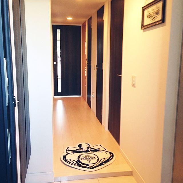 フランフラン×玄関マットのインテリア実例   2ページ目   RoomClip ... Entrance/フランフラン/玄関マット/ホワイトインテリア/ウェルカムボード/foranewに