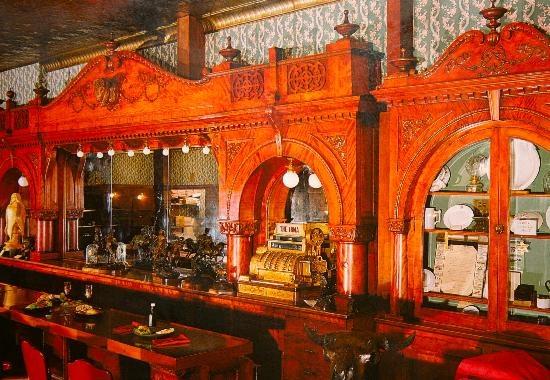 Famous Bar in Irma's Hotel, Cody Wyoming