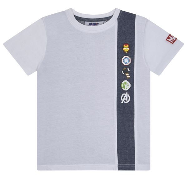 FFAV04 Avengers Denim Strap T-Shirt - Marvel - Fabric Flavours