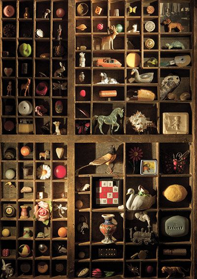 Tombola, part of Orhan Pamuk's Museum of Innocence: In poetically well-built museums, formed from the heart's compulsions, we are consoled not by finding in them old objects we love, but by losing all sense of Time. Real museums are places where Time is transformed into Space.   (via The Guardian)  Cubby Holes, shelves, bookcases and Objects to go in them.