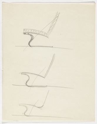 Tugendhat Chair Ludwig Mies van der Rohe (American, born Germany. 1886–1969)  c.1930. Pencil on paper, 11 1/4 x 8 7/8 (28.5 x 22.5 cm). Mies van der Rohe Archive, gift of the architect. © 2013 The Museum of Modern Art, New York