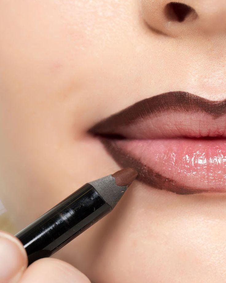 Sabes como contornar os teus lábios? Qual é o teu truque?