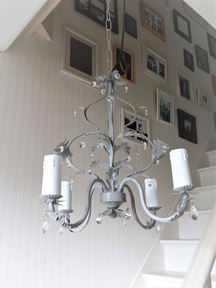 Chandelier Lighting Vintage Crystal Ceiling Fixture, Pendant Lights, Shabby  Chic, Farmhouse Upcycled Annie