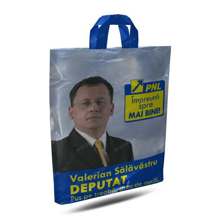 Sacose cu maner aplicat pentru campanii electorale