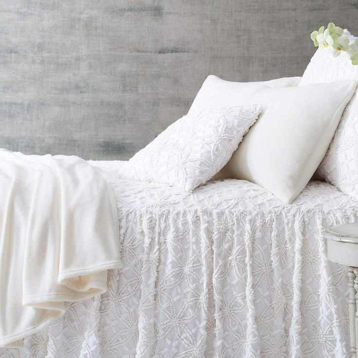 Candlewick Dove White Bedspread design by Pine Cone Hill