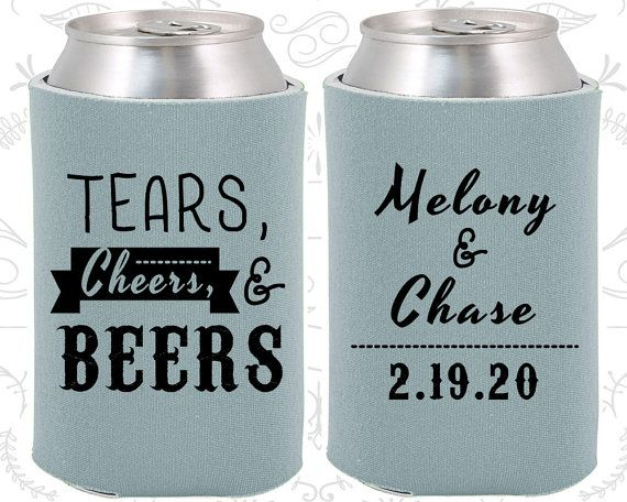 Tears Cheers Beers Wedding Gift Southern Wedding by MyWeddingStore