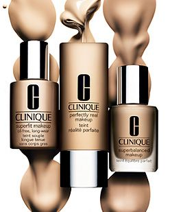 Clinique foundation - I use the superfit in Shell, and it's photo-perfect...a stunning finish with a little powder!