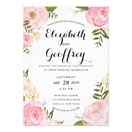 96 best WEDDINGS Floral Invitations images – Floral Wedding Invitations