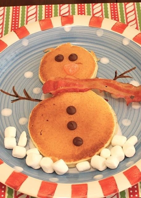 Snowman Pancakes | Community Post: 50 Essential Christmas Hacks, Tips, And Tricks To Help You Survive The Holidays