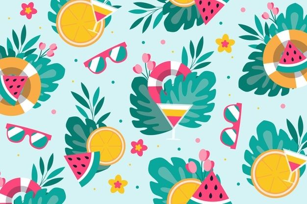 Download Summer Pattern For Zoom For Free Cute Wallpaper Backgrounds Vector Free Summer Patterns