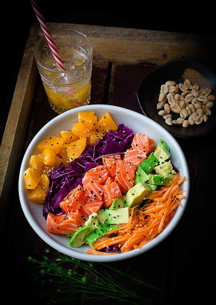 Rainbow Salmon Salad Bowl