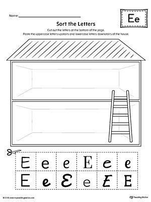 Sort the Uppercase and Lowercase Letter E Worksheet Worksheet.Practice identifying the uppercase and lowercase letter E in this sorting printable worksheet.