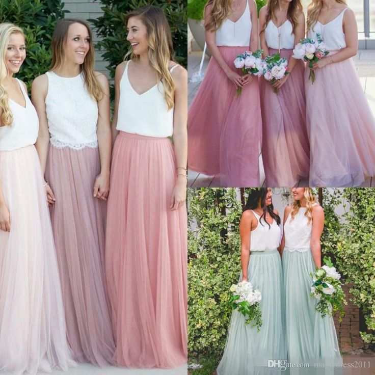 Modest Long Bridesmaid Dresses Without Blouse Tulle Skirts Tiered Ruffles Custom Made Floor-Length Cheap Long Bridesmaid Skirts 2017 Elegant New Bridesmaid Dresses Cheap Bridesmaid Dresses Long Maid of Honor Dress Online with 38.0/Piece on Magicdress2011's Store | DHgate.com