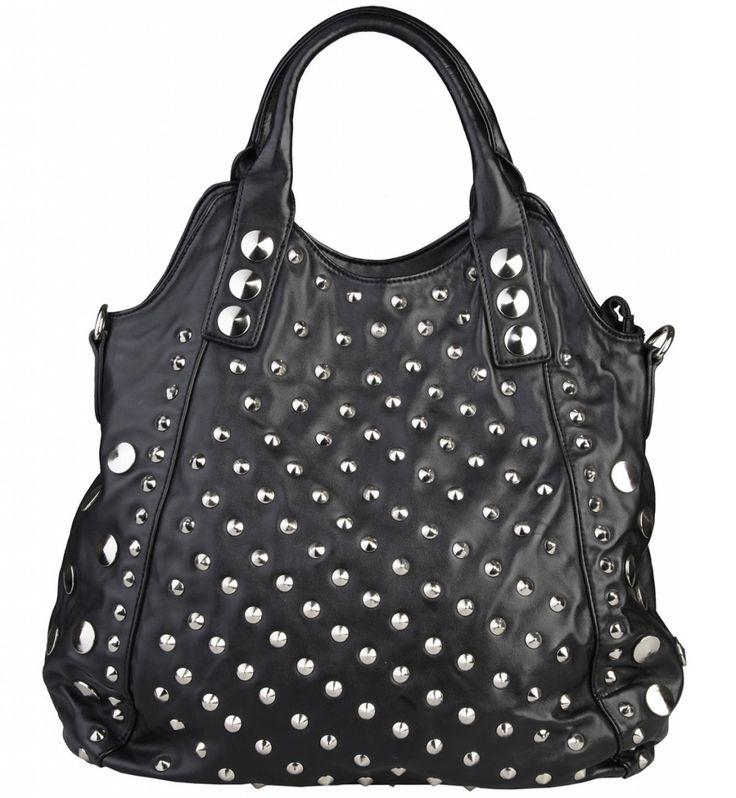 Dámská kabelka Segue, s cvočky - černá barva | obujsi.cz - dámská, pánská, dětská obuv a boty online, kabelky, módní doplňky