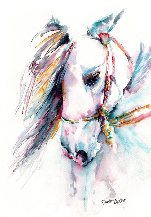New Art Idea: When I was younger, I drew nothing but horses. Thinking I want to try a water color / india ink horse on a huge canvas for our bedroom or living room. Going to try and incorporate geometric shapes as those seem to be a developing theme in our apartment.