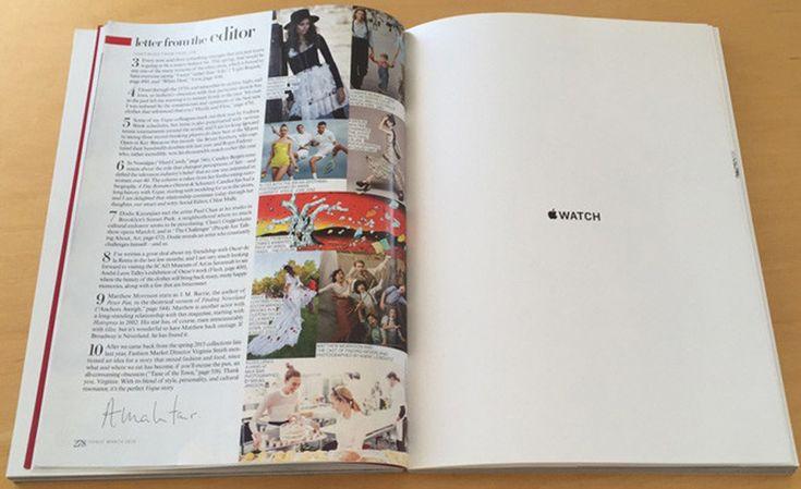 El Primer Anuncio del Apple Watch Son 12 Páginas en Vogue