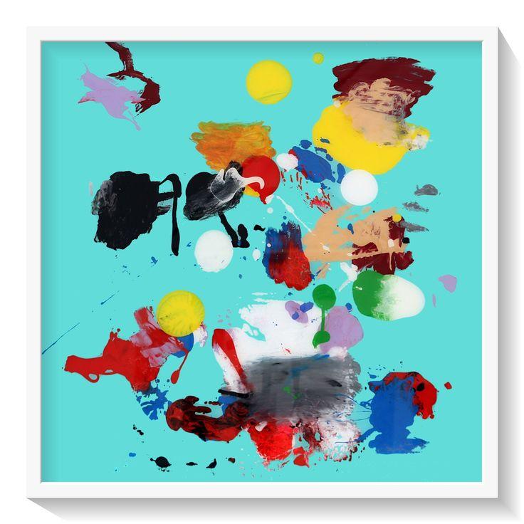 Painting ATLAS (Turquoise) Santiago Picatoste www.santiagopicatoste.com