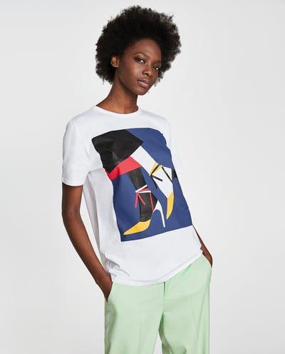 Camiseta Woman Zapatos De Zara2018ss Pinterest c354RjLqA
