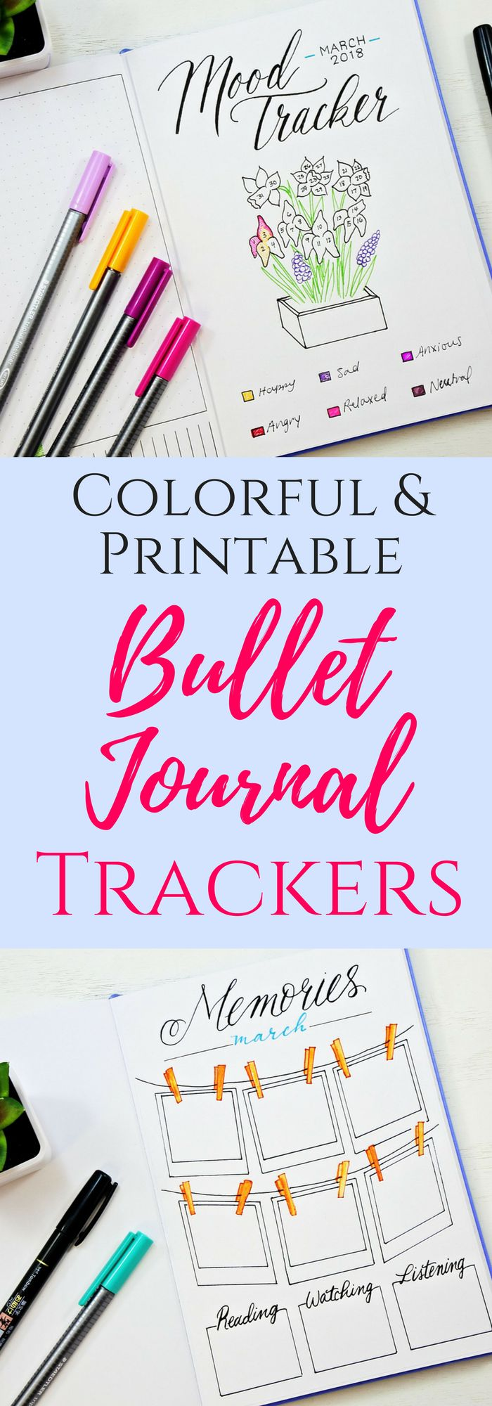Mood tracker, habit tracker, bullet journal memories, gratitude log. #bulletjournaltracker #bulletjournaling
