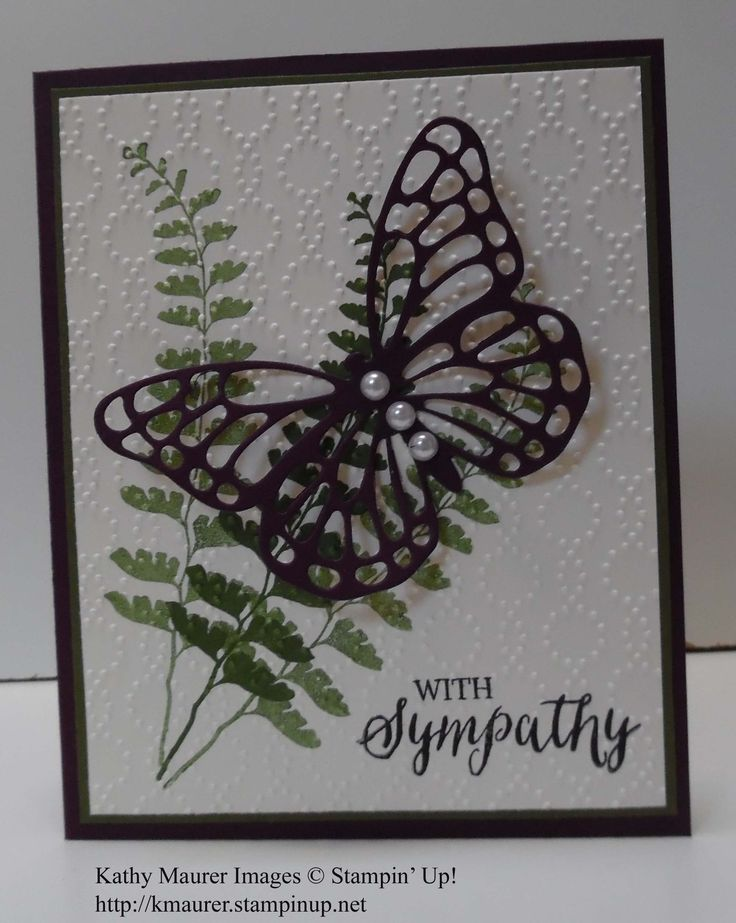 Butterfly Basics fern, Butterflies thinlits, Rose Wonder greeting, Elegant Dots EF, Blackberry Bliss, Mossy Meadow, Very Vanilla