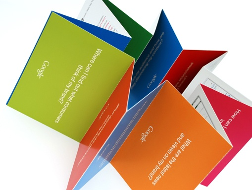 The playful format of Google's brochure meant it was interesting and encouraged engagement.
