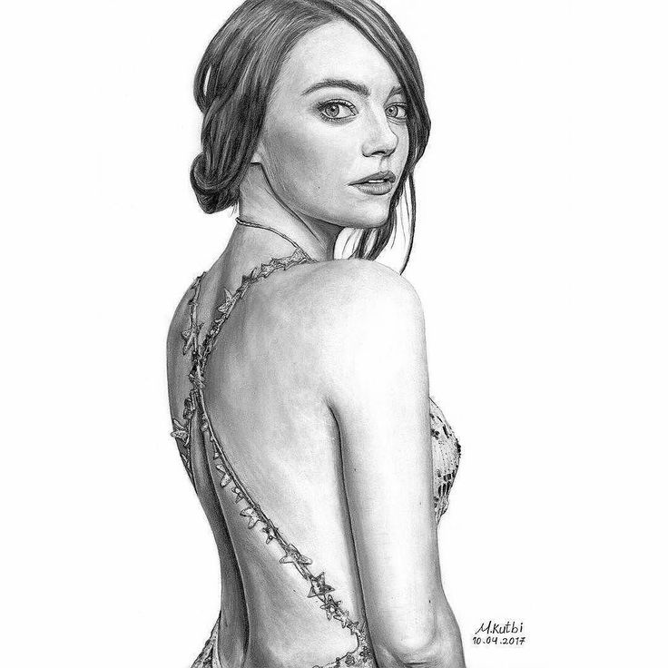 #DRKYSELA Model: Emma Stone at Golden globes 2017 (Mert & Marcus) Graphite pencil on smooth Bristol paper Dimensions: 29.7 x 42 cm