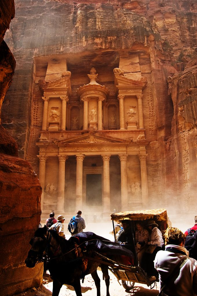 "Established possibly as early as 312 BC as the capital city of the Nabataeans, it is a symbol of Jordan, as well as its most visited tourist attraction.  UNESCO has described it as ""one of the most precious cultural properties of man's cultural heritage"".  -"