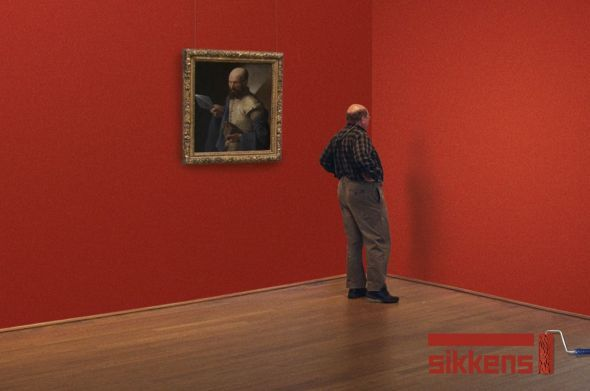 Sikkens: Museum, Red   Ads of the World™. RIJKSkleuren van Sikkens ook verkrijgbaar bij Deco Home Bos in Boxmeer. www.decohomebos.nl