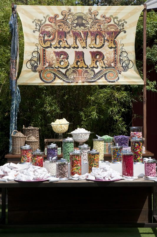 never do a candy buffet in full sun especially with chocolate items even just candy bar signswedding