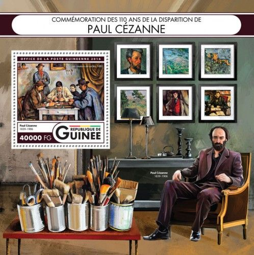 GU16414b Commemorating the 110 years of the death of Paul Cézanne (Paul Cézanne (1839–1906), The Card Players, 1892)