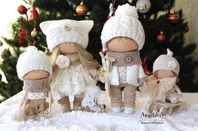 #новыйгод #baby #doll #dolls #handmade #семья #покажисвоюелку