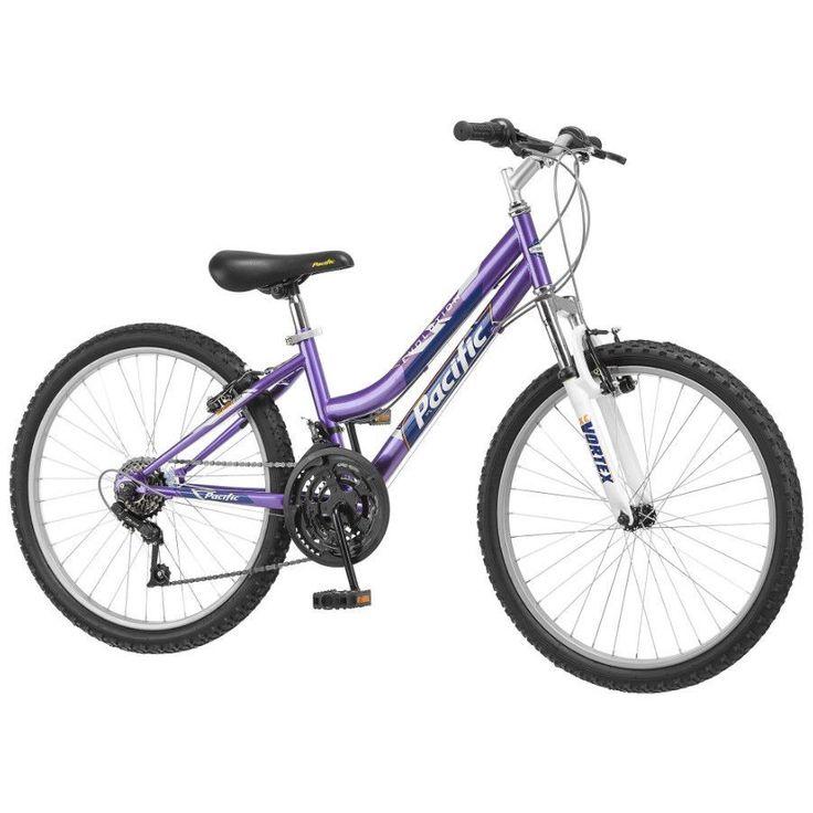 "Mountain Bike For Girls 24"" Womens Bicycle 18 Speed All Terrain Steel Suspension #girlsbike #girlsmountainbike #24womensbike"