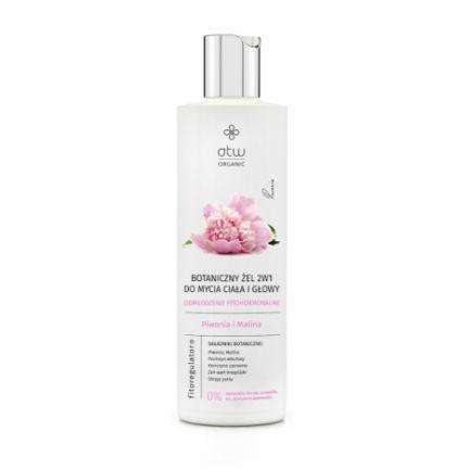Botaniczny żel do mycia ciała i głowy, odmłodzenie fitohormonalne, piwonia i malina 250 g OrganicLife