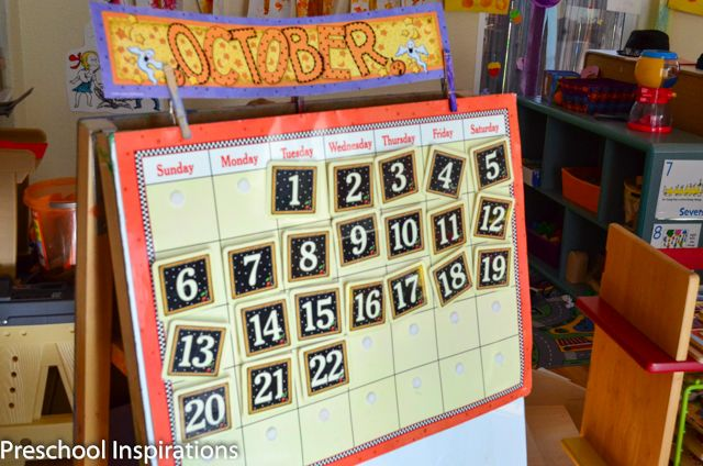 Making Calendar Time Meaningful ~ alternative to typical preschool calendar during circle time